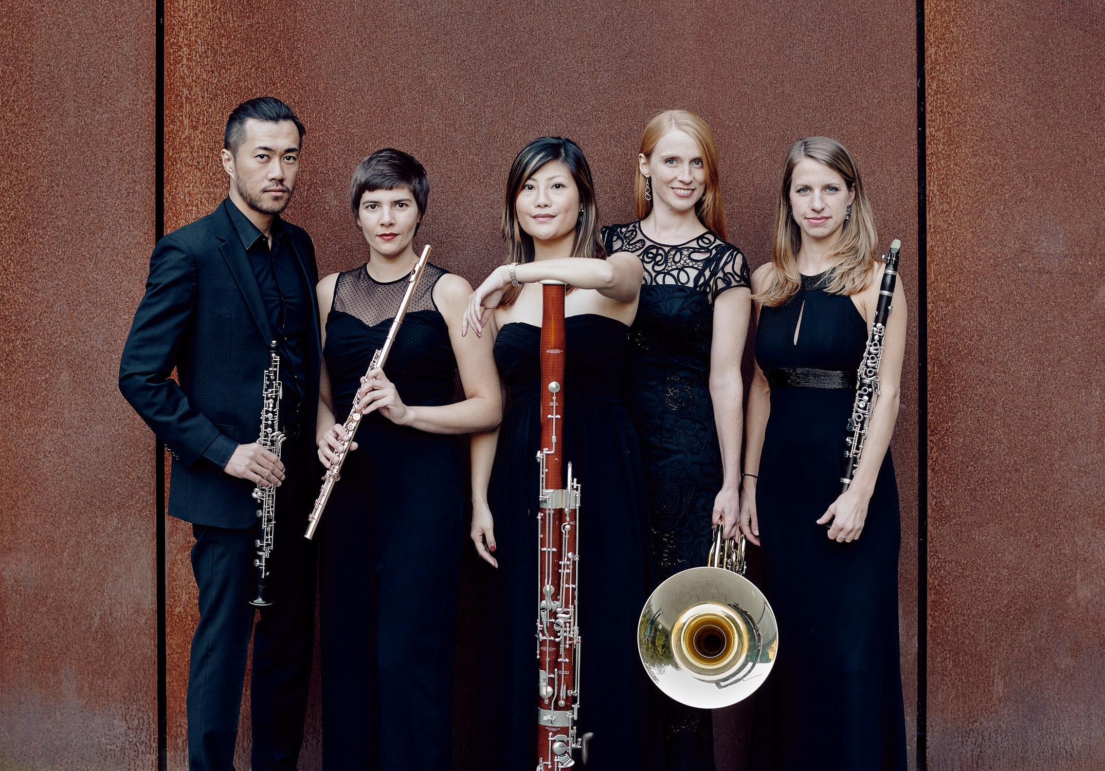 Arundos Quintett Bläserensemble fotografiert von Christian Palm Müngstener Brückenpark