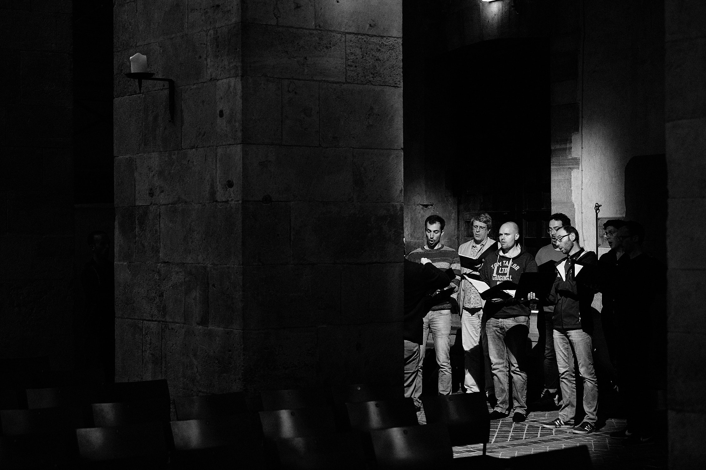Chorwerk Ruhr Gruppe Männerchor Schwarz Weiss Bild