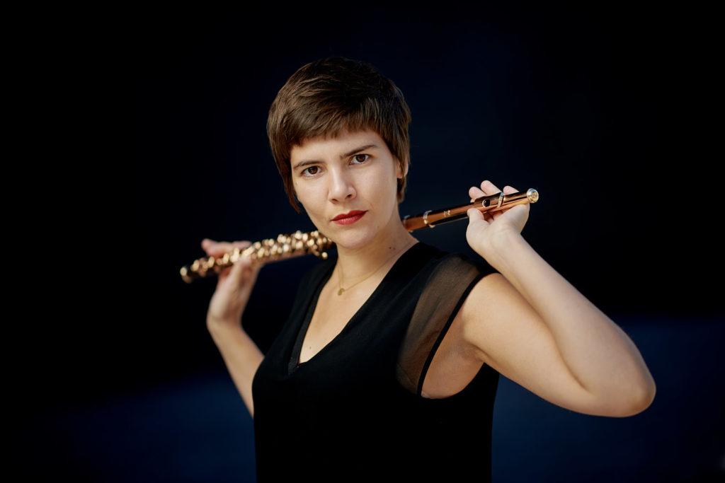 Arundos Quintett fotografiert von Christian Palm Bläserensemble Musiker Anna Saha Flöte
