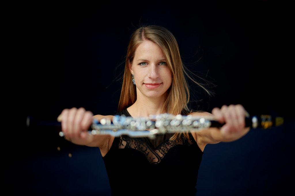 Arundos Quintett fotografiert von Christian Palm Bläserensemble Musiker Christine Stemmler und Klarinette